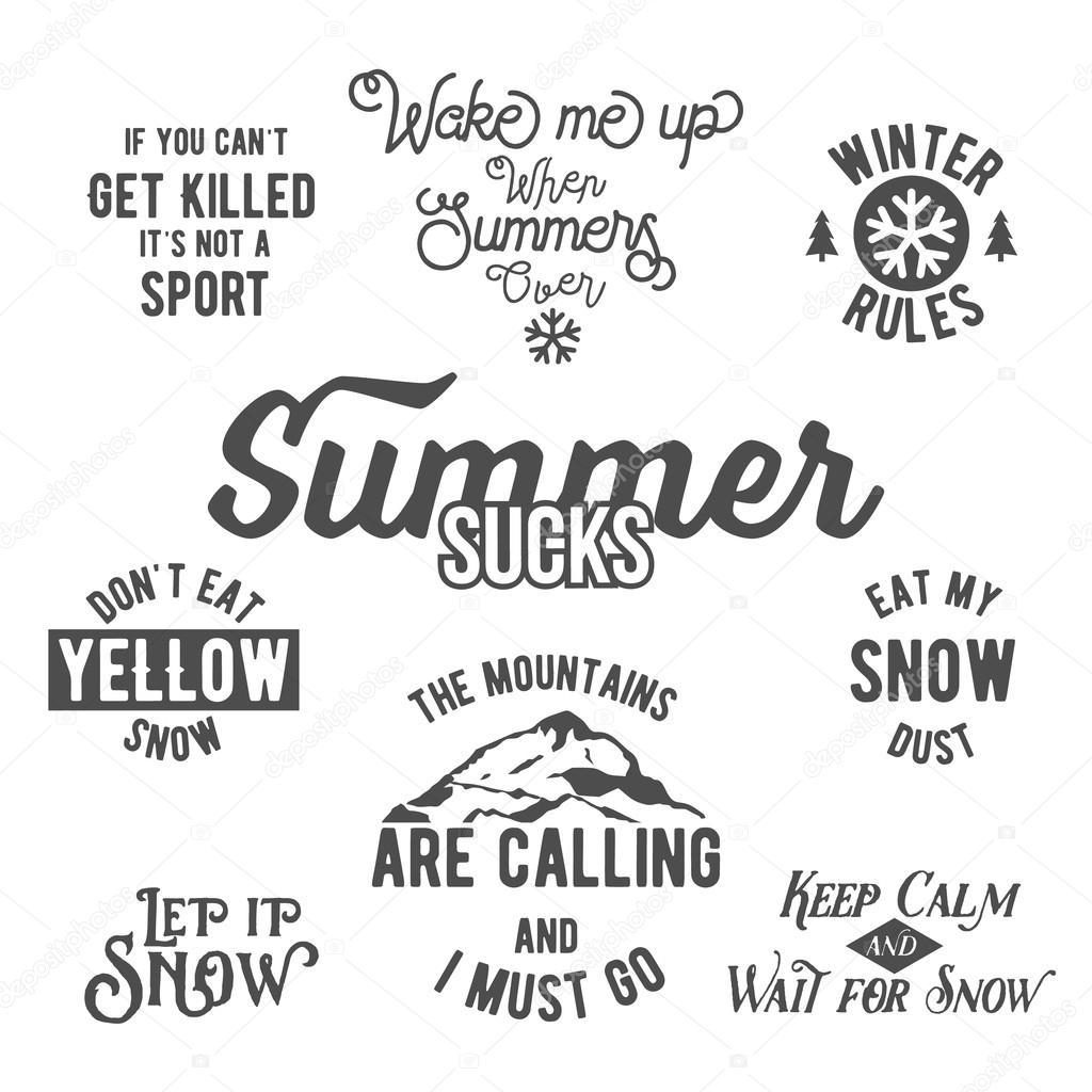 Citaten Over De Winter : Beroemde citaten over wintersport — stockvector