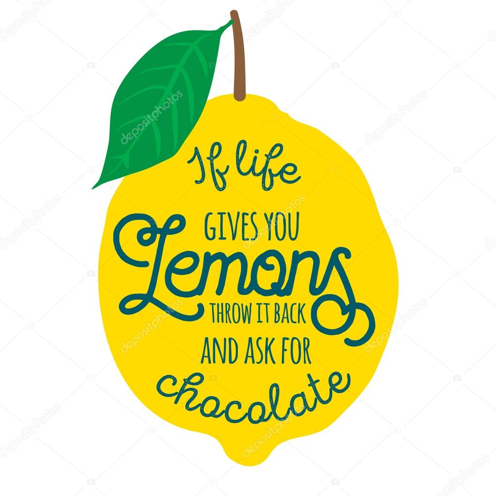 Motivation Quote Lemons Stock Vector Nappelbaum 108915612