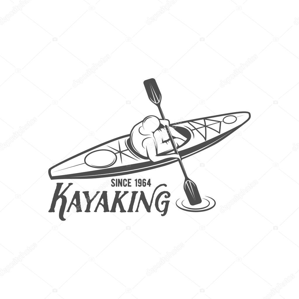 vintage rafting label badge or logotype