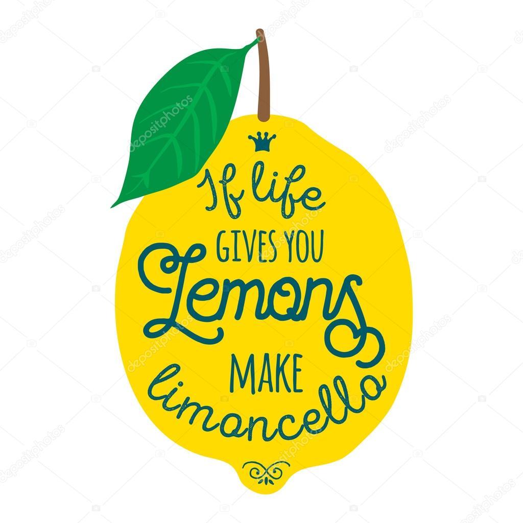 Motivation Quote About Lemons Stock Vector Nappelbaum 122170456