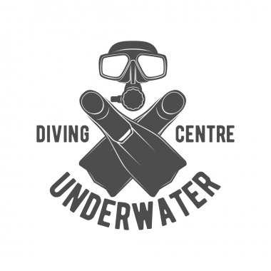 diving vintage labels logos  and design elements
