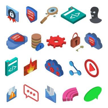 isometric it icons