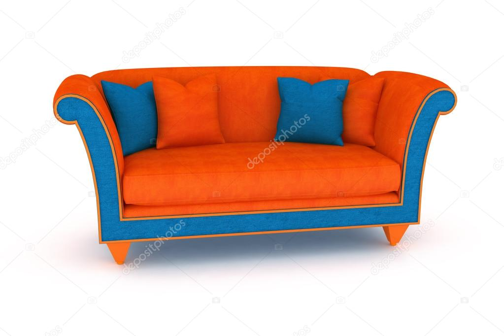 isolierte orange sofa blau stockfoto annet999 75702661. Black Bedroom Furniture Sets. Home Design Ideas