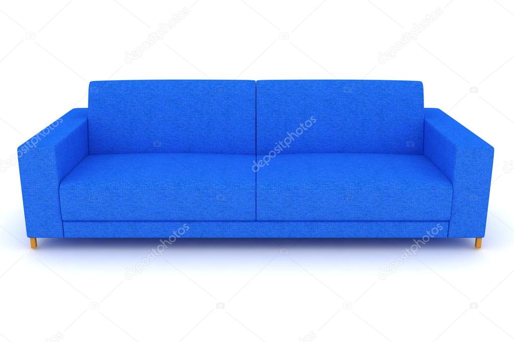 Blaues sofa — Stockfoto © annet999 #82240382