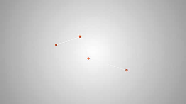 Csatlakozó gömbök színátmenetes háttér