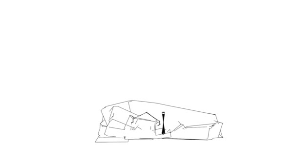 House sketch made by lines
