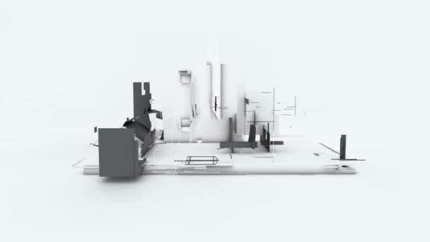 Proces výstavby domu od přesun prvků