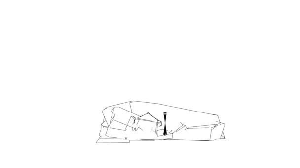 Dům skica od čáry