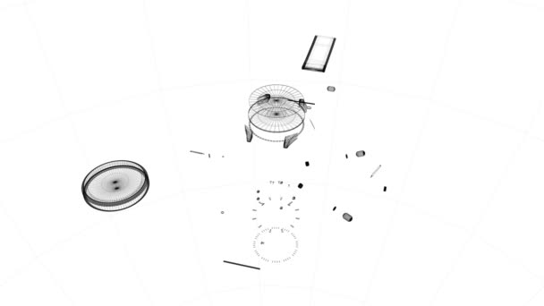 Watch pieces assembled together