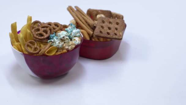close up view of crunchy snacks and sweets on kitchen table
