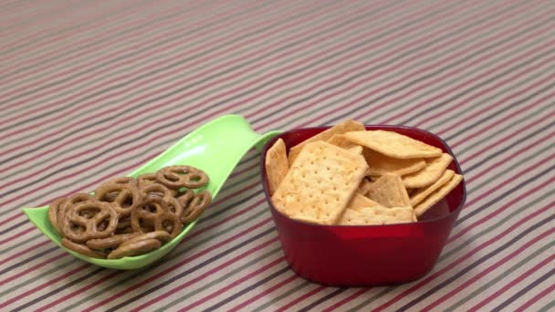 close up view of crunchy snacks on kitchen table