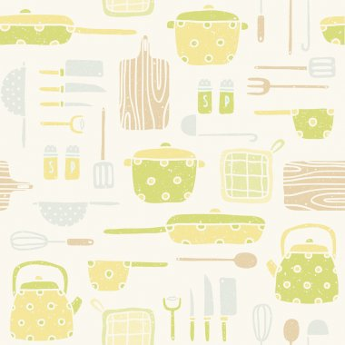 Kitchen utensils pattern