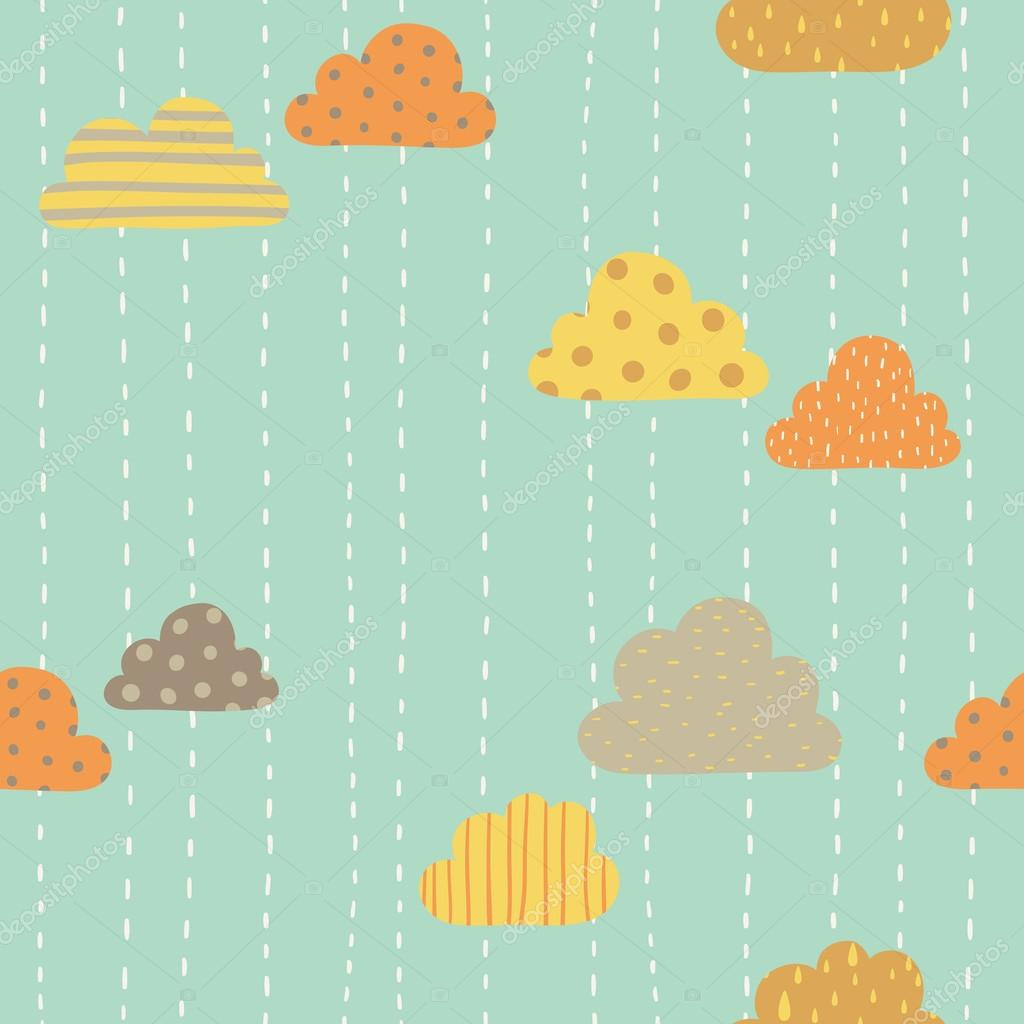 Funny clouds pattern.