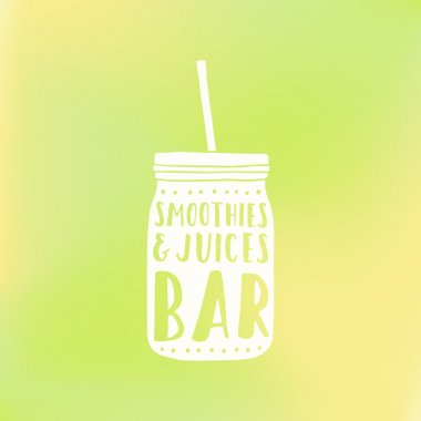 Smoothies and juices bar logotype