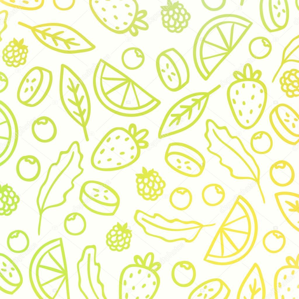Doodle fruit background