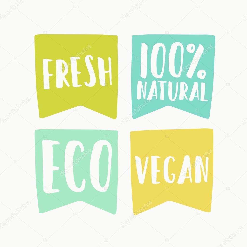 Natural and vegan flag tags