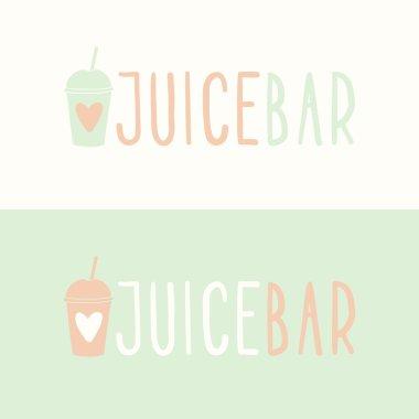 Juice bar logotypes.