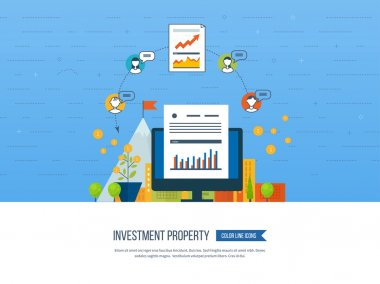 Property investment. Business diagram