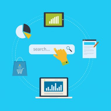 Concept of website analytics and SEO data analysis