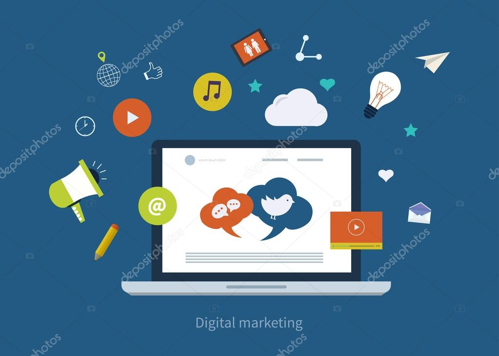 mobile marketing icons