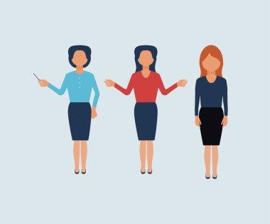 Set of businesswomen