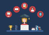 ikony sada dálkového vzdělávání