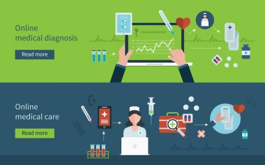 Online health diagnostic icons