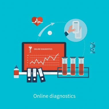 Health care and online diagnosis concept