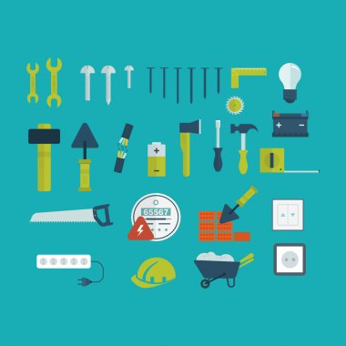 Tools and  repair  icons