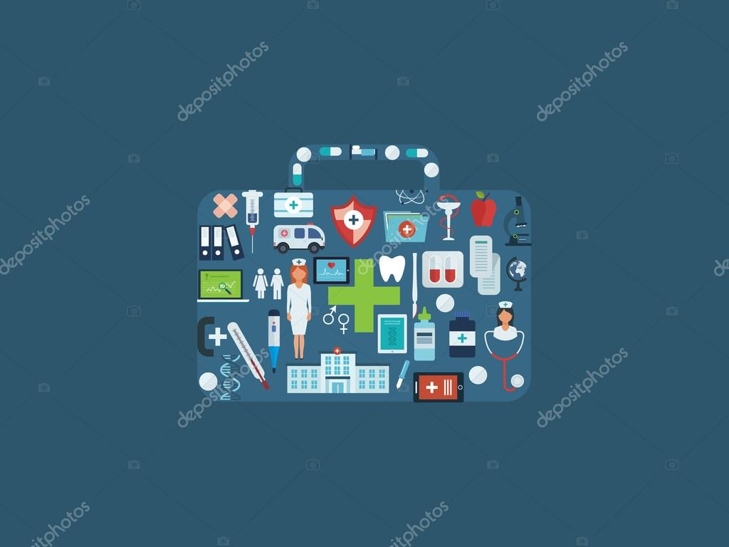 Healthcare, medical help icons