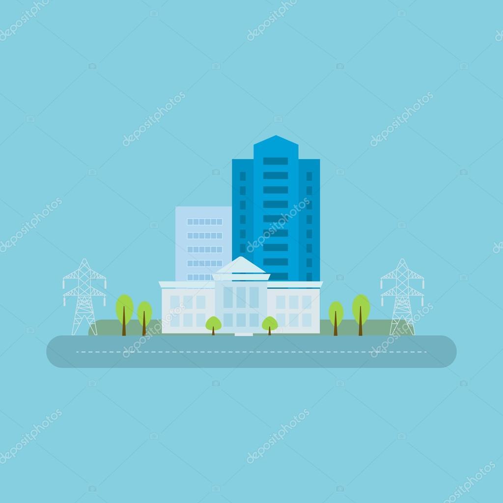 Power energy, urban landscape  concept