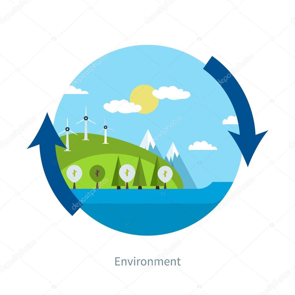 Ecology,  environment, green energy concept