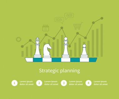 Strategy planning and successful business   icons