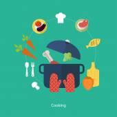 Fotografia Icone per il cibo e il ristorante