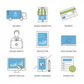 Mobilní marketingové ikony