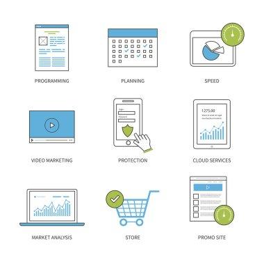 Market analysis  icons