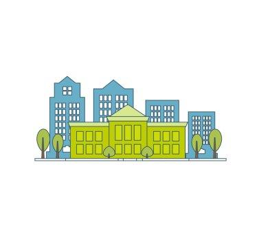 School or university building icon