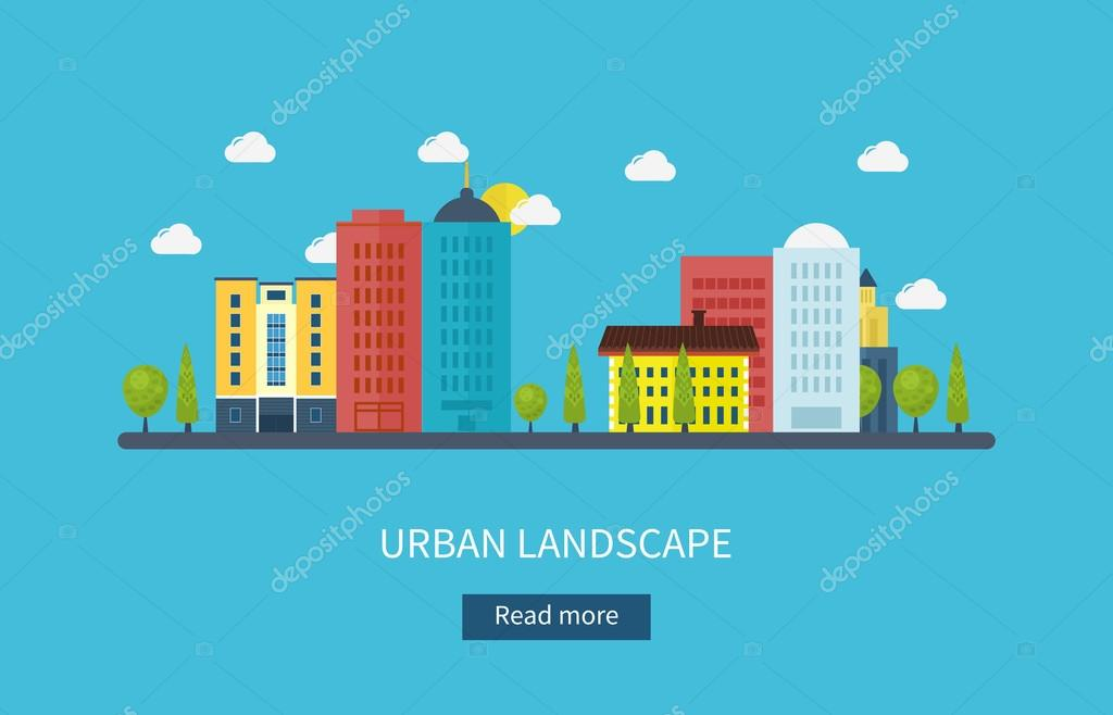 urban landscape and city life.