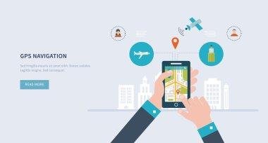 smart-phone with mobile navigation