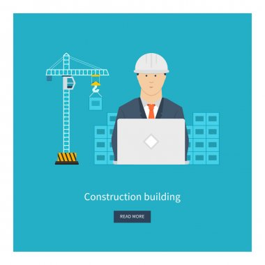 icons of building construction, city life