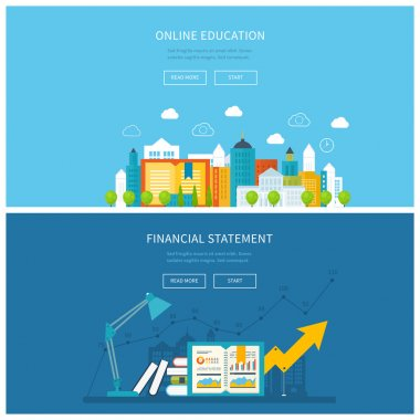 Illustration icons set of mobile education