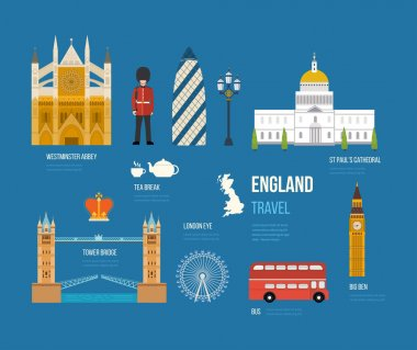 United Kingdom flat icons