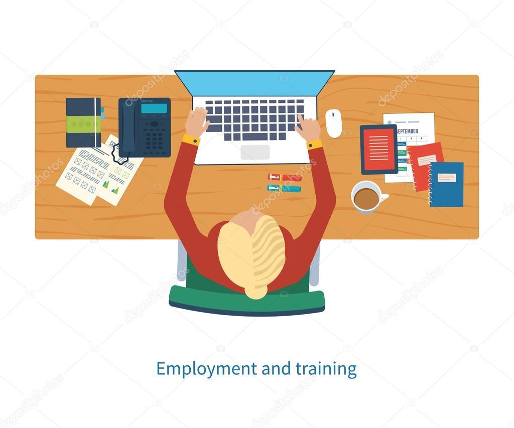 Espacio de trabajo de oficina de dise o con herramientas y for Herramientas de oficina