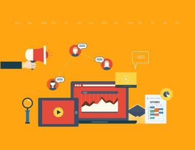 Businessmans hand, laptop, phones