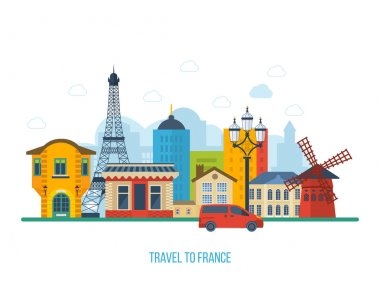 French Landmarks set