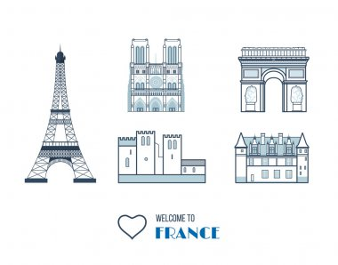 French Landmarks set.