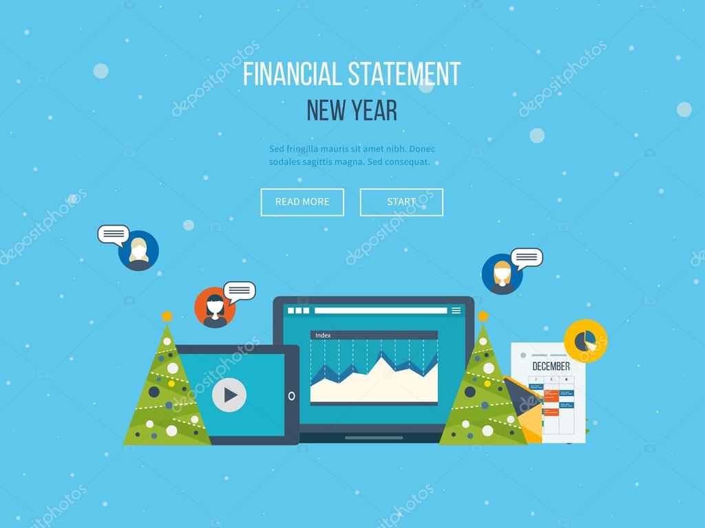 financial report on the new year