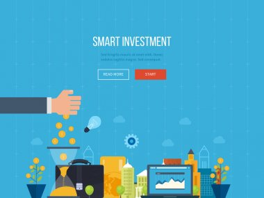 Concept for smart investment, finance, banking