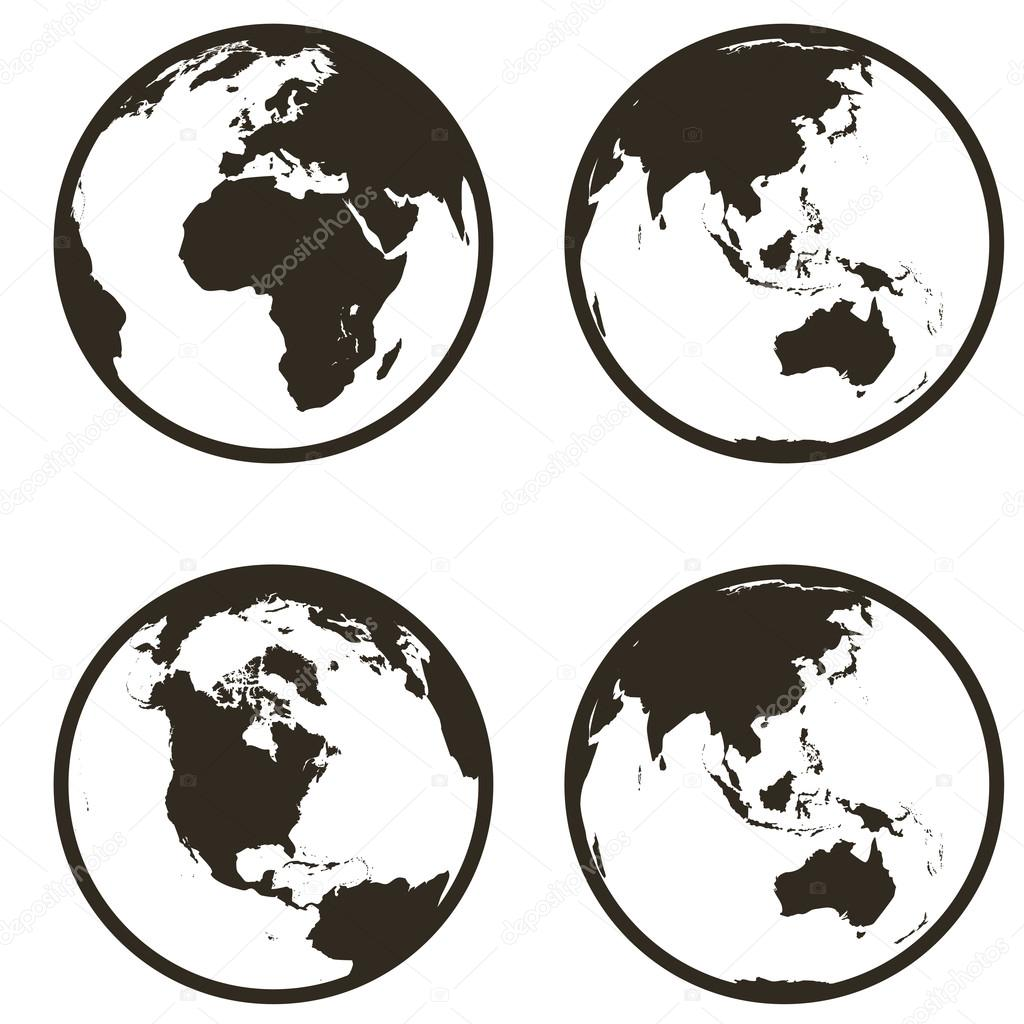 Earth icon flat design Royalty Free Vector Image   Earth Flat Icon Eps