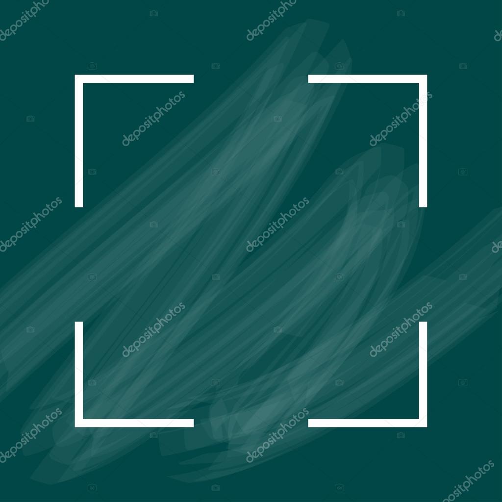 Turquesa fondo acrílico marco blanco con diseño con estilo — Vector ...